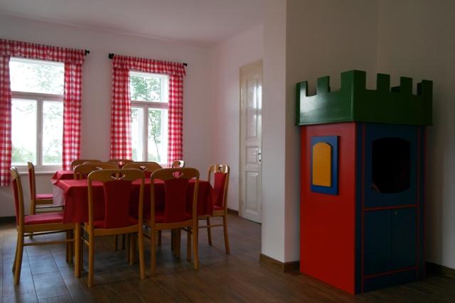 Hrad pro děti ve společenské místnosti